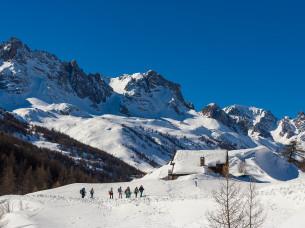 Racchette da neve nella Alta Valle della Claree