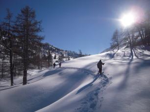 Racchette da neve a Névache