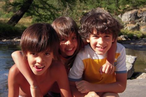 Bambini a bordo della Clarée