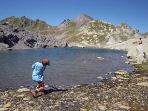 Bambino nella valle della Clarée